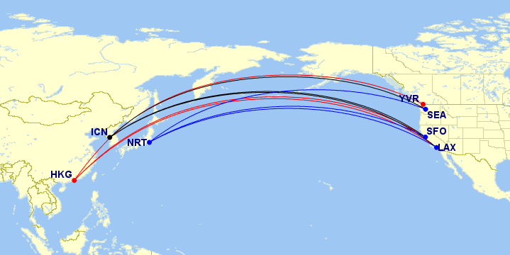 Award Flights Map